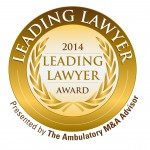 The Ambulatory M&A Advisor Leading Lawyer Award 2014